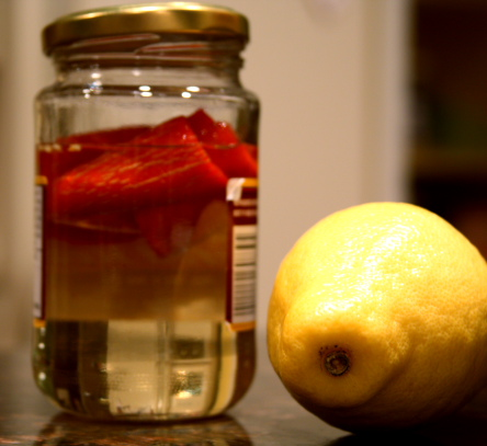 Spicy Simple Syrup and Lemon