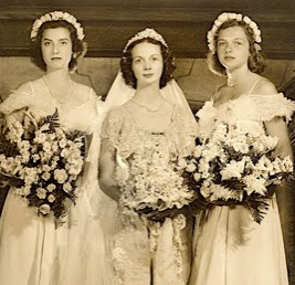 My grandmother is the bride and cousin Anna's grandmother Mary is on the right