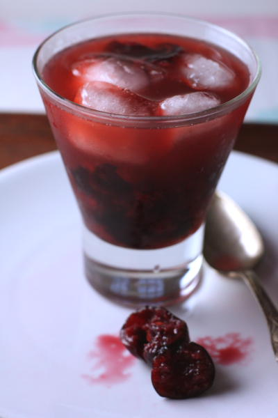 Bourbon Cherry Cocktail Mixed Drink