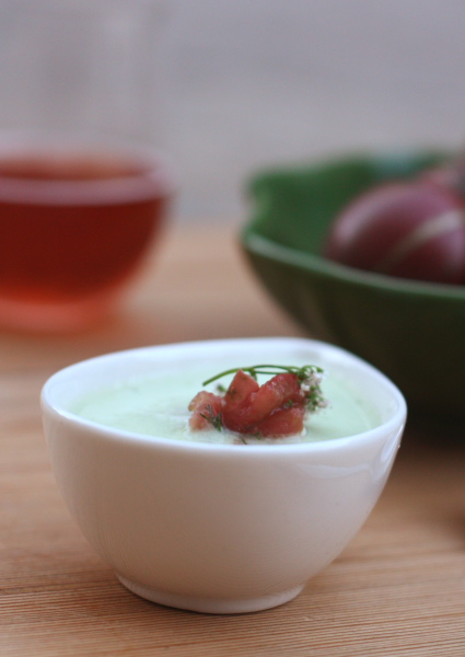 cucumber gazpacho with tomato