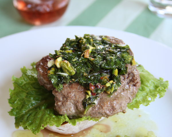 ground lamb burger