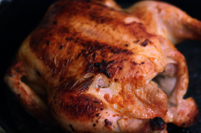 easy whole roasted chicken with Sriracha sauce