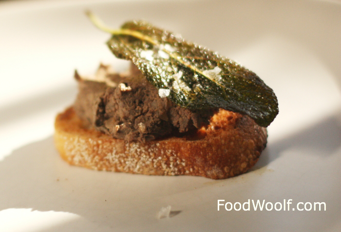 chicken liver crostini 1