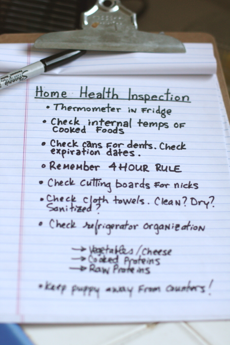 home health inspection check list
