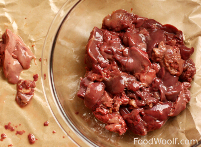 how to clean chicken liver