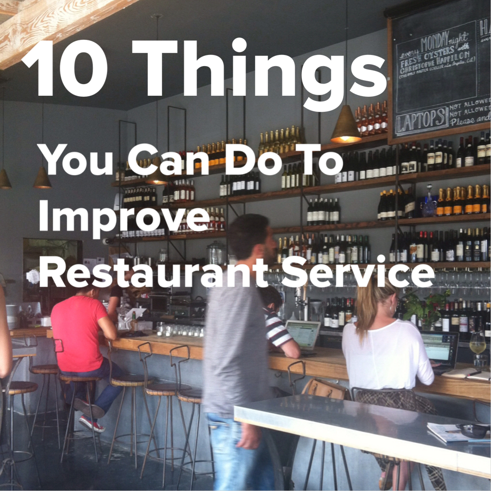 10 things you can do to improve service